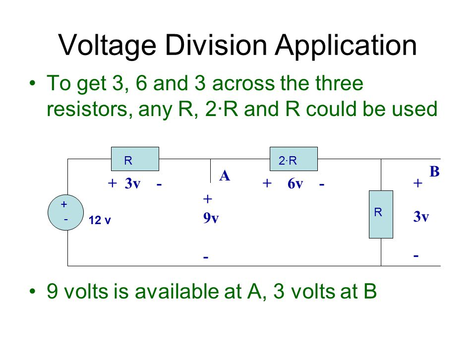 Voltage Division Application