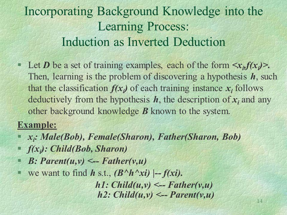 h1: Child(u,v) <-- Father(v,u) h2: Child(u,v) <-- Parent(v,u)