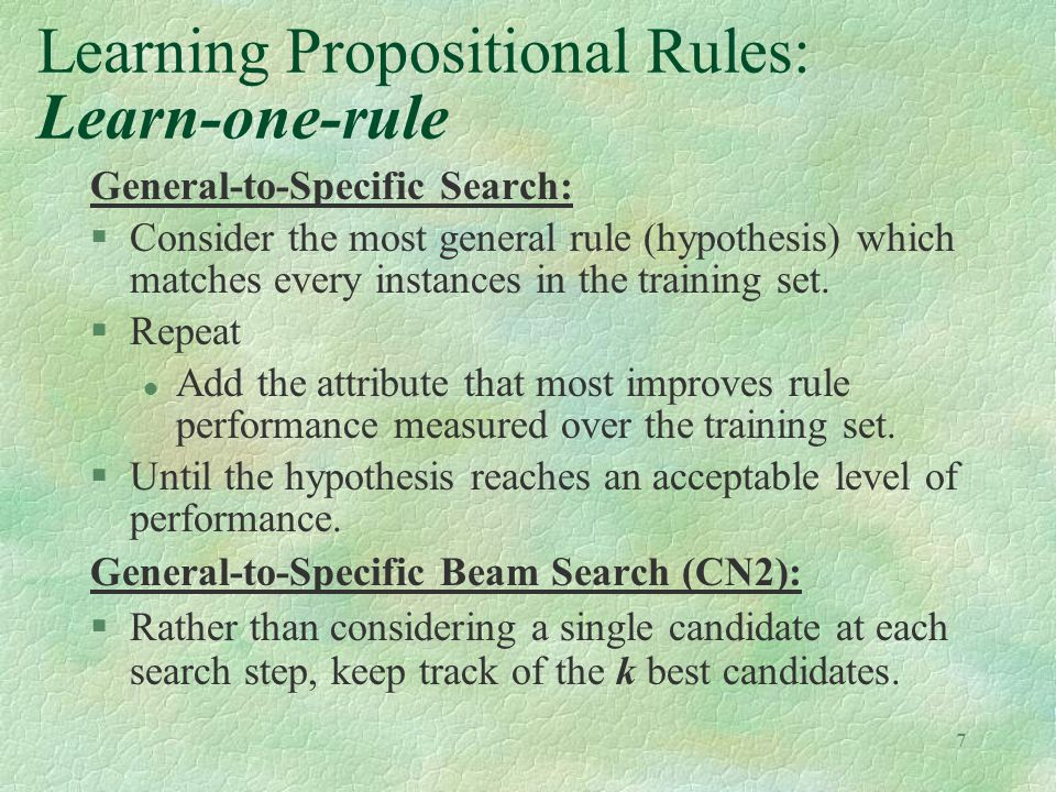 Learning Propositional Rules: Learn-one-rule