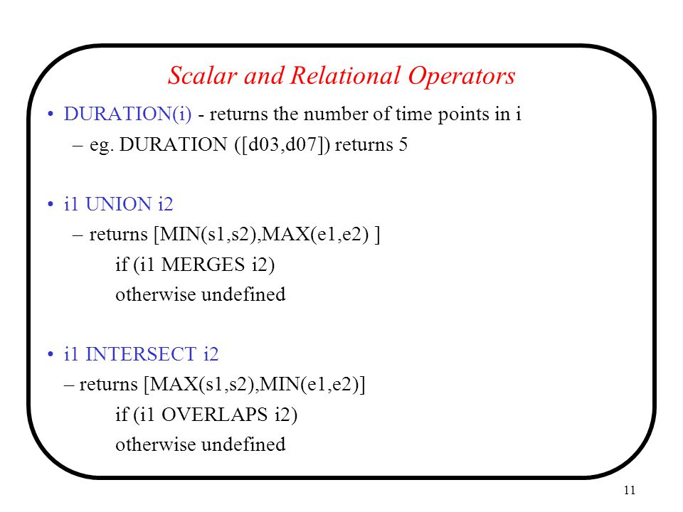Scalar and Relational Operators
