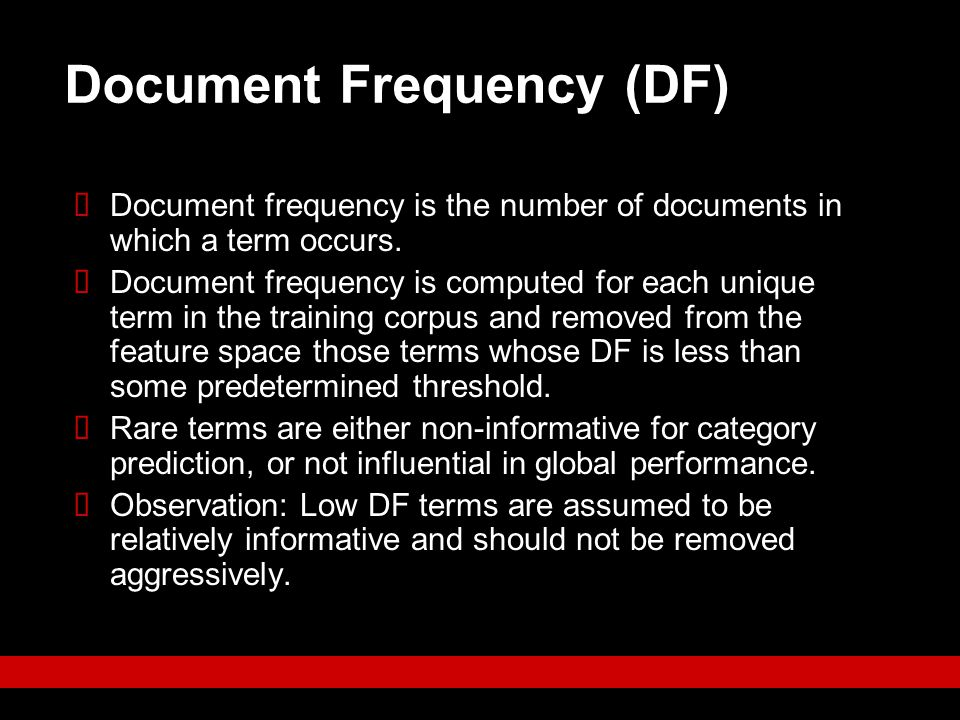 Document Frequency (DF)