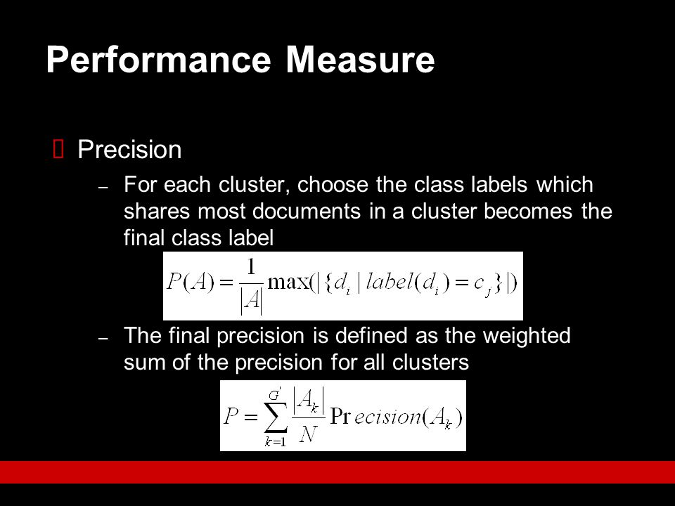 Performance Measure Precision