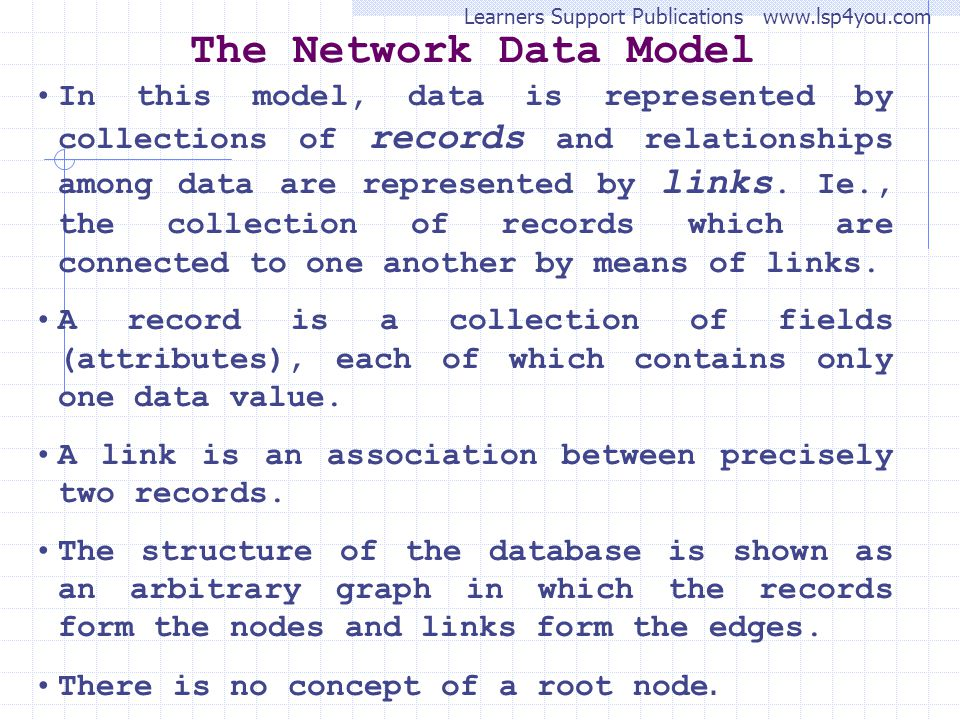 The Network Data Model