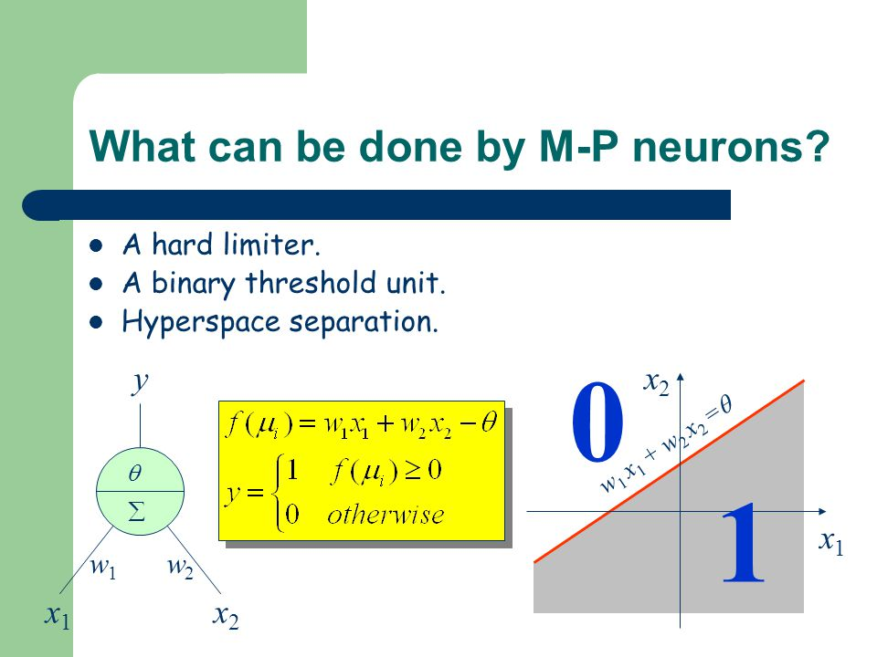 What can be done by M-P neurons