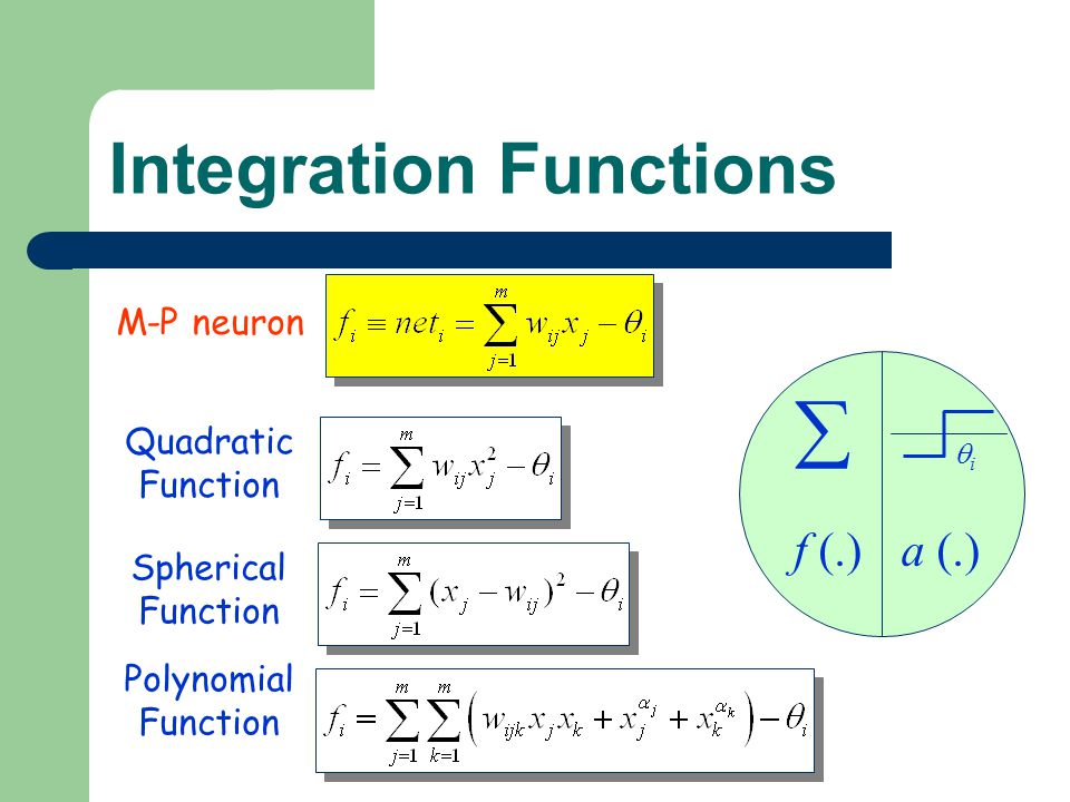 Integration Functions