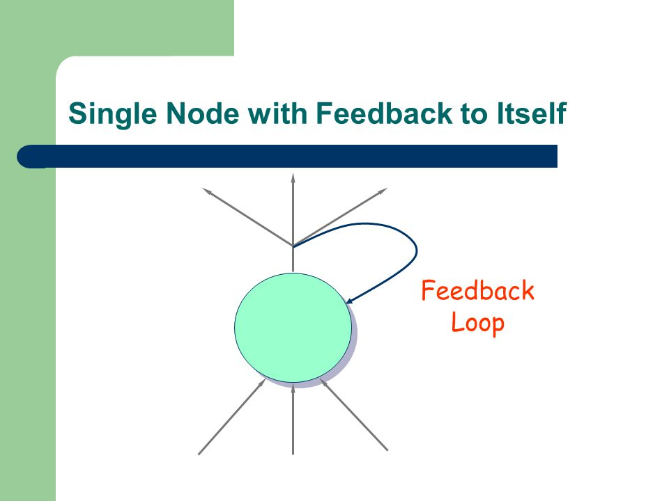 Single Node with Feedback to Itself