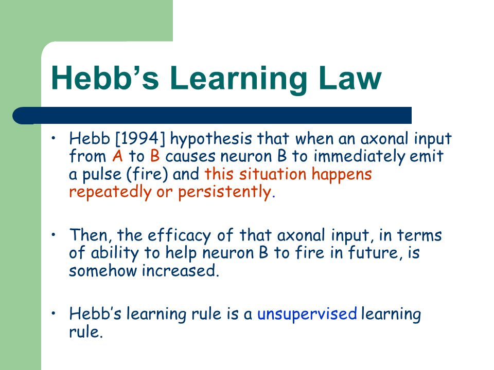 Hebb's Learning Law