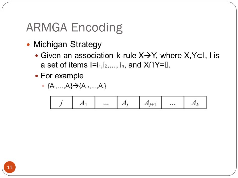 ARMGA Encoding Michigan Strategy