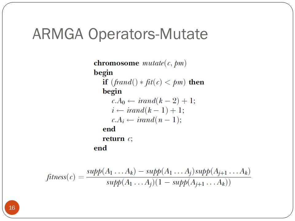 ARMGA Operators-Mutate
