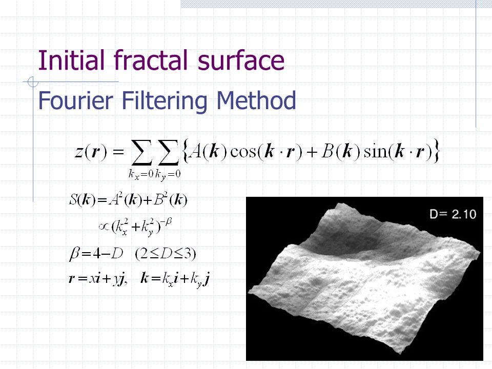 Initial fractal surface