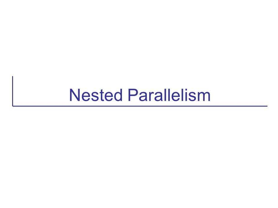 Nested Parallelism