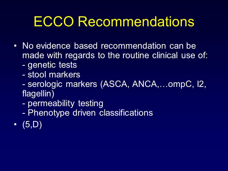ECCO Recommendations