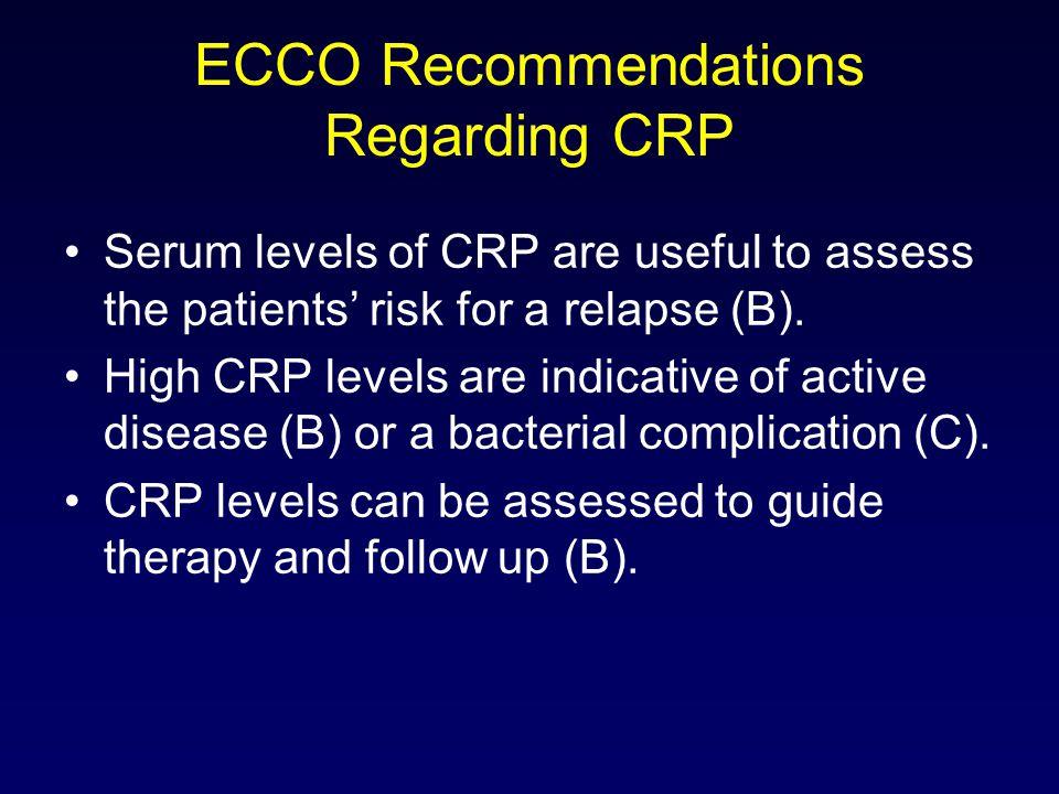 ECCO Recommendations Regarding CRP