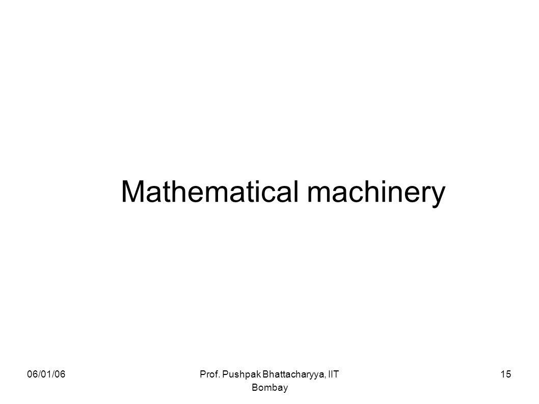 Mathematical machinery