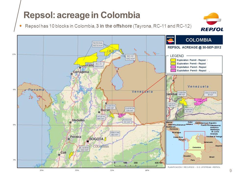 Repsol: acreage in Colombia