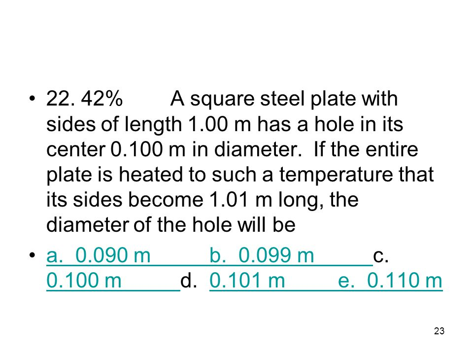 22. 42%. A square steel plate with sides of length 1