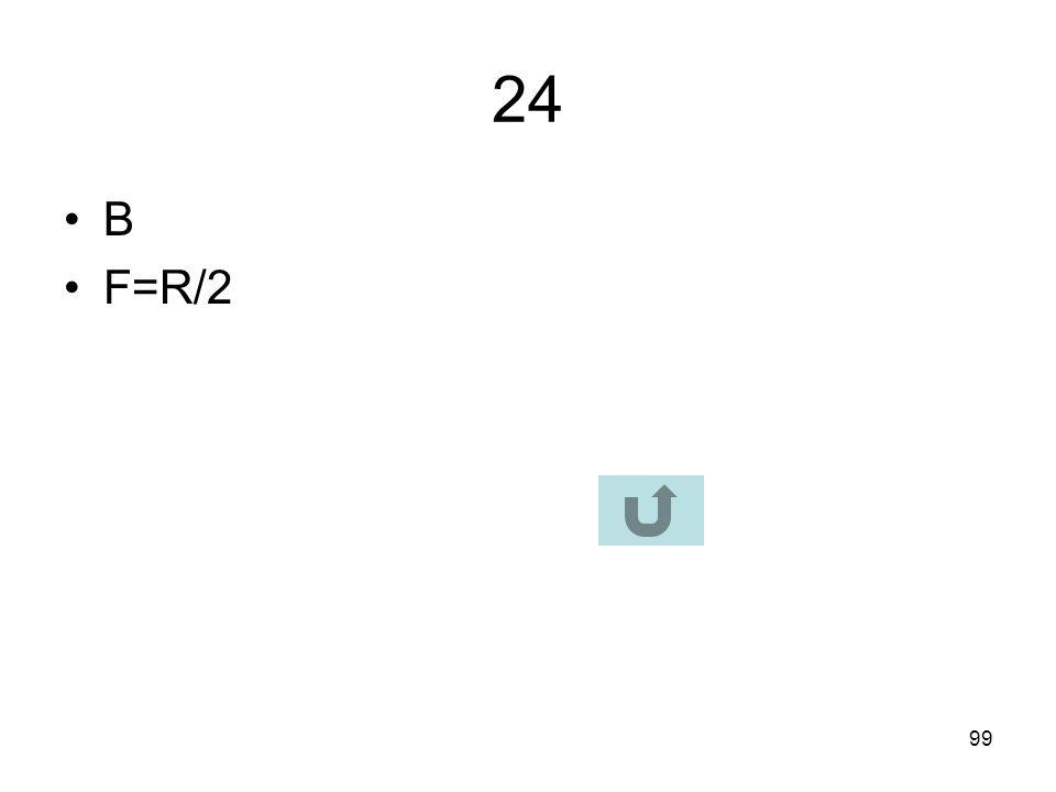 24 B F=R/2