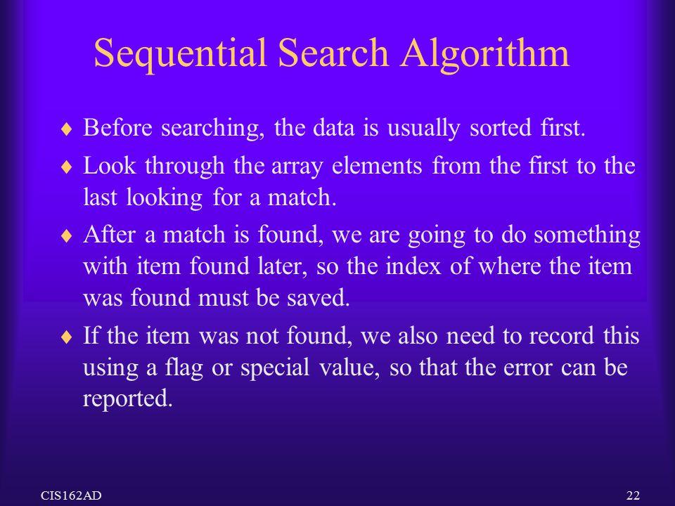 Sequential Search Algorithm