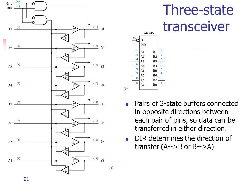 Three-state transceiver