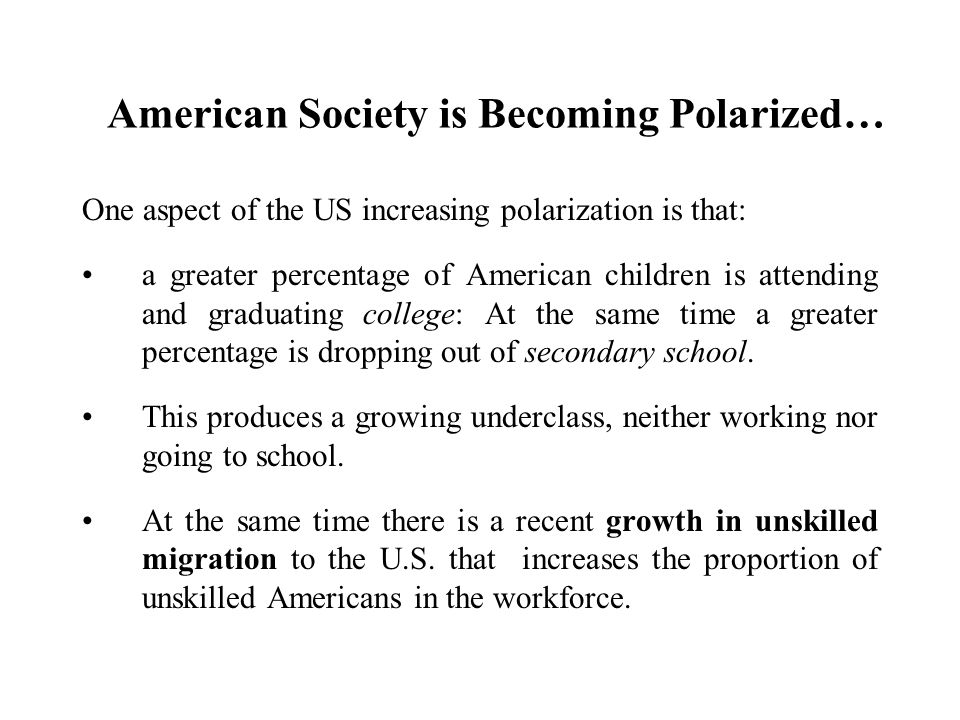American Society is Becoming Polarized…