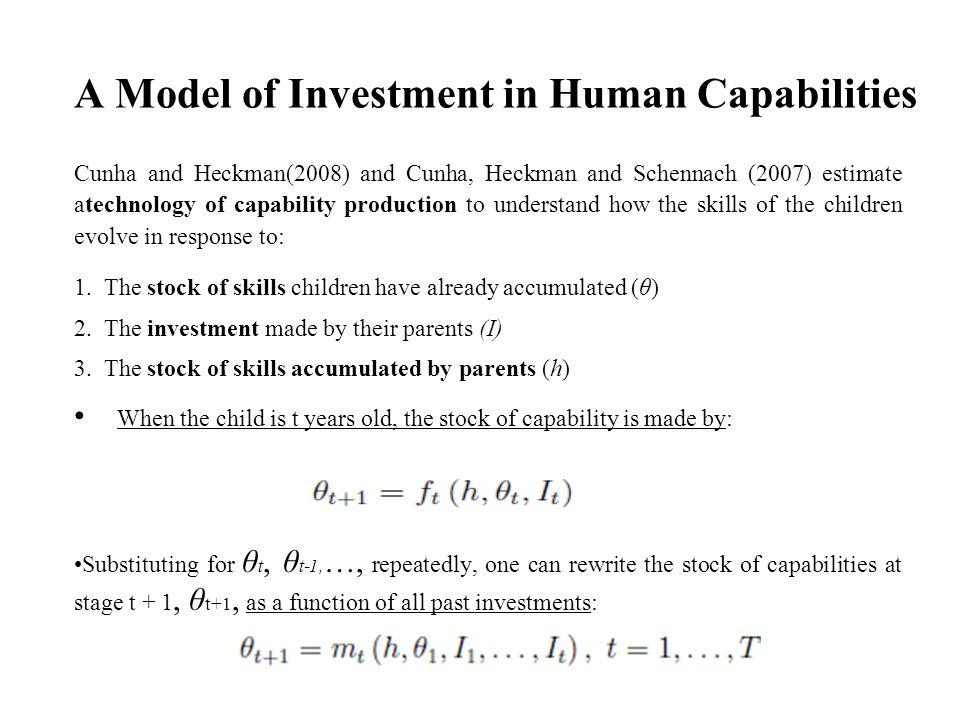 A Model of Investment in Human Capabilities