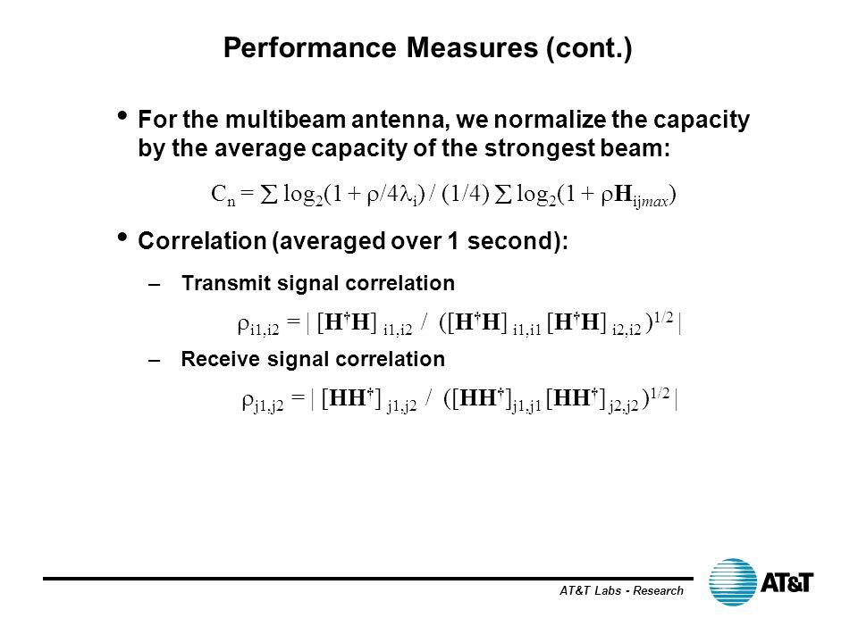 Performance Measures (cont.)