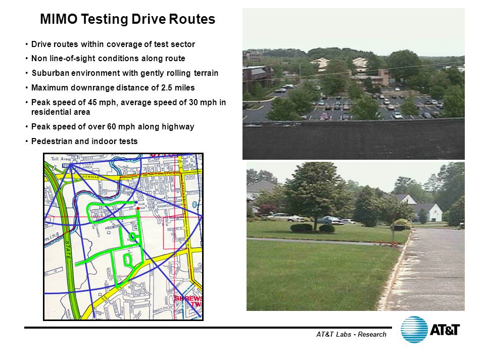 MIMO Testing Drive Routes