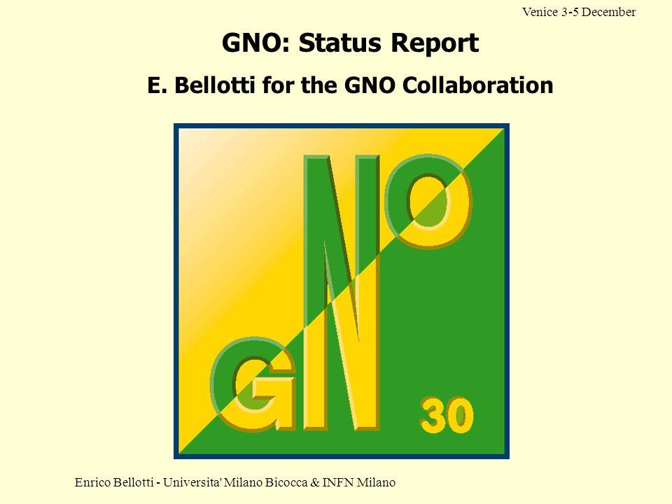 E. Bellotti for the GNO Collaboration