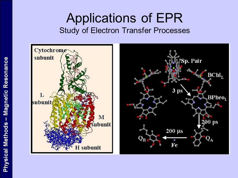 Applications of EPR Study of Electron Transfer Processes
