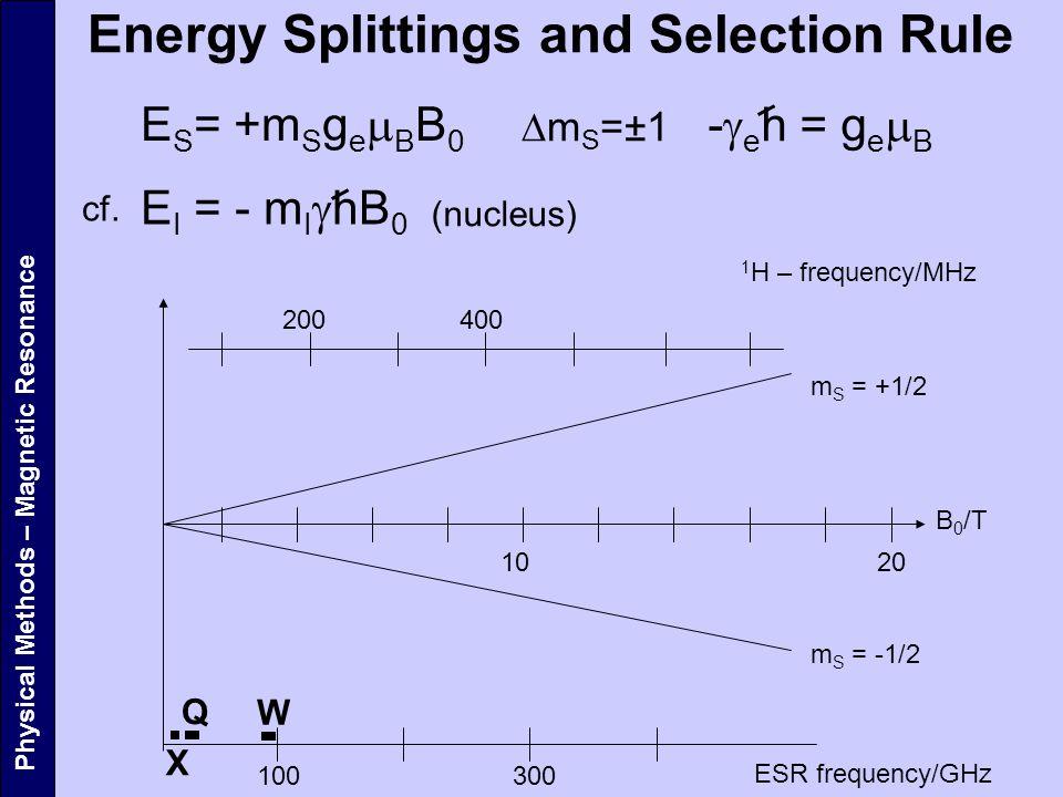 Energy Splittings and Selection Rule