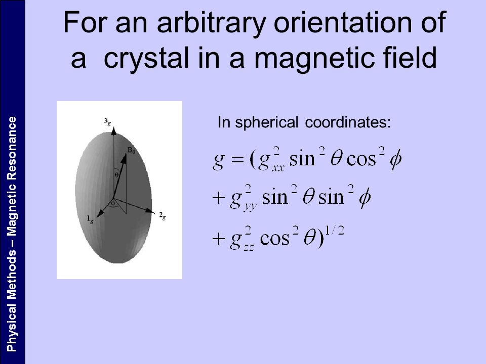 For an arbitrary orientation of a crystal in a magnetic field