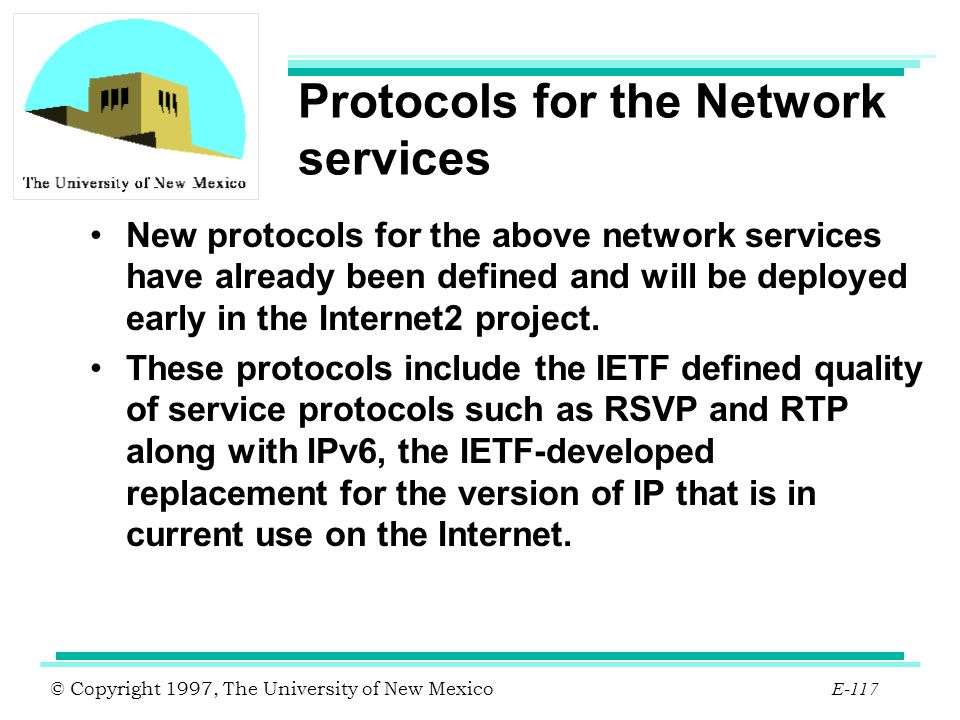 Protocols for the Network services