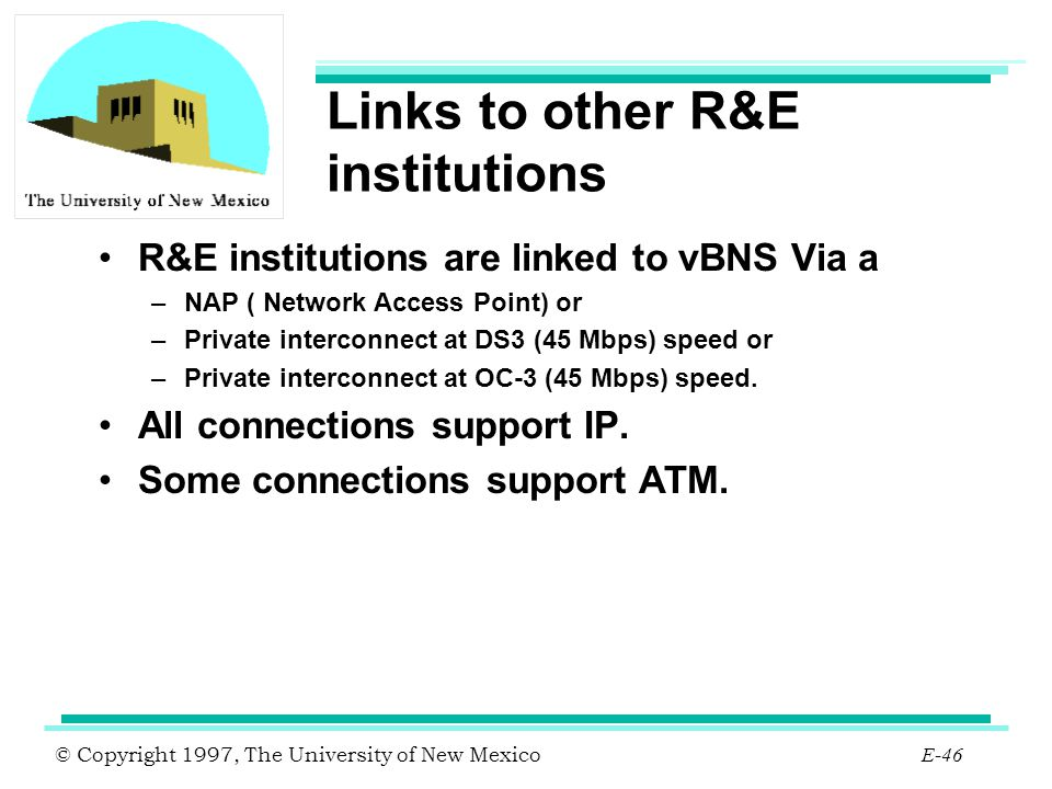 Links to other R&E institutions