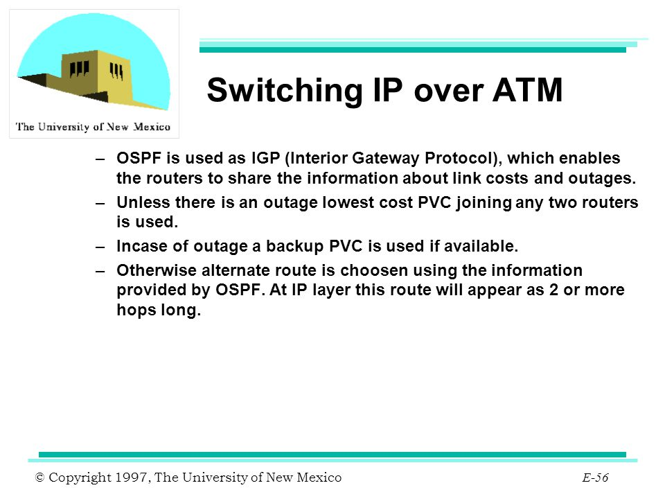 Switching IP over ATM