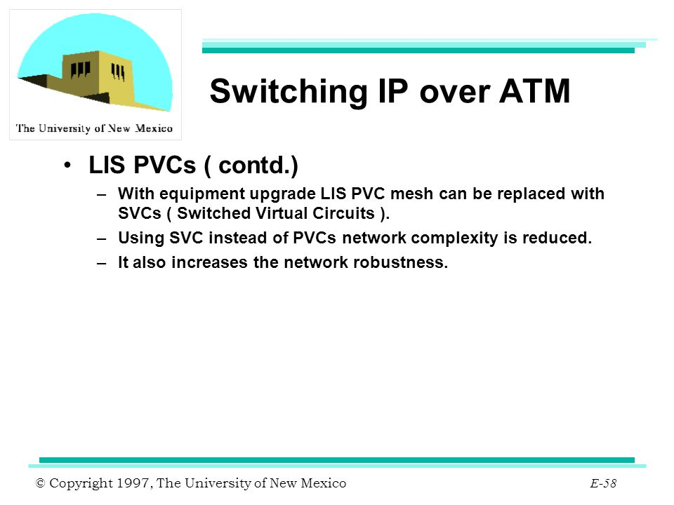 Switching IP over ATM LIS PVCs ( contd.)