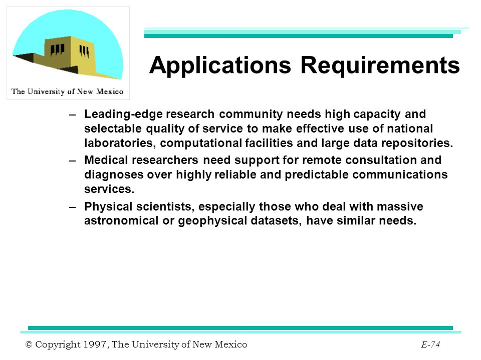 Applications Requirements