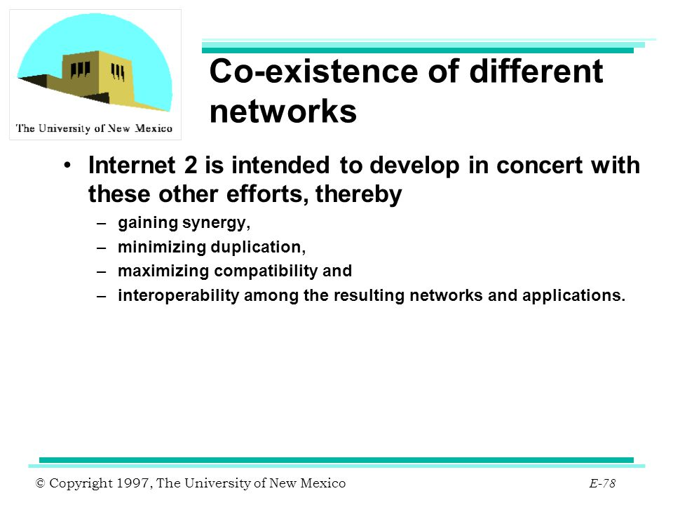 Co-existence of different networks