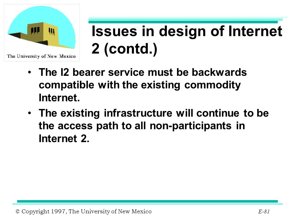 Issues in design of Internet 2 (contd.)