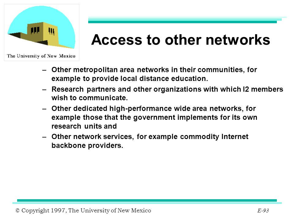 Access to other networks