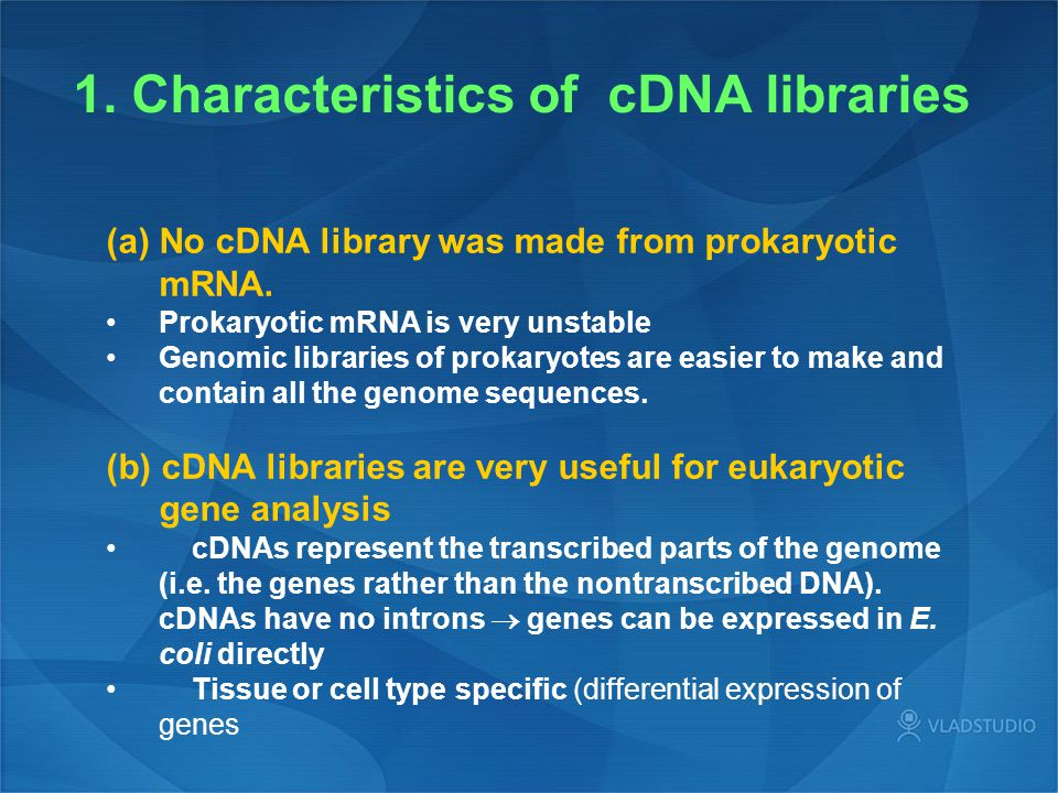 1. Characteristics of cDNA libraries