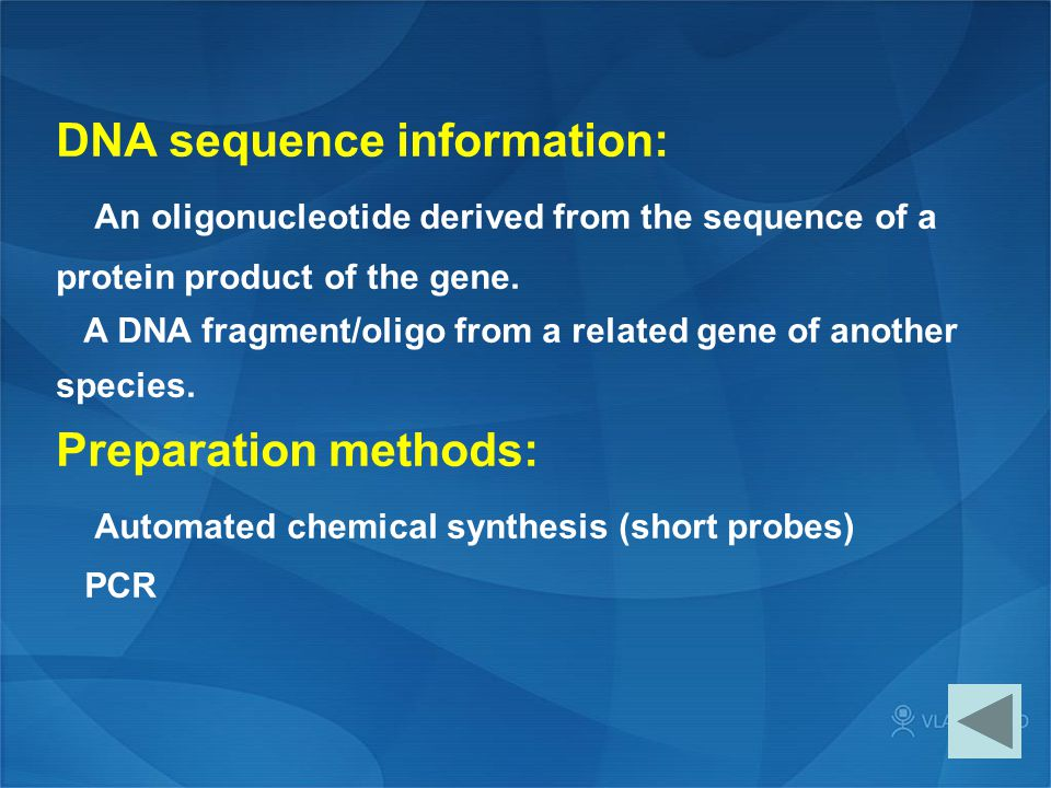 DNA sequence information: