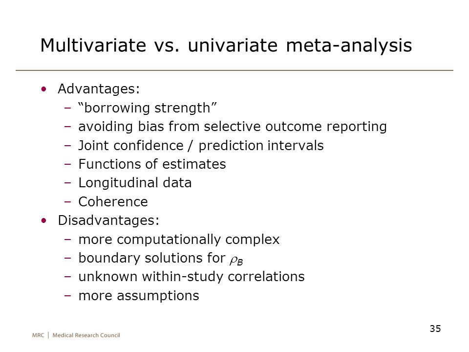 Multivariate vs. univariate meta-analysis