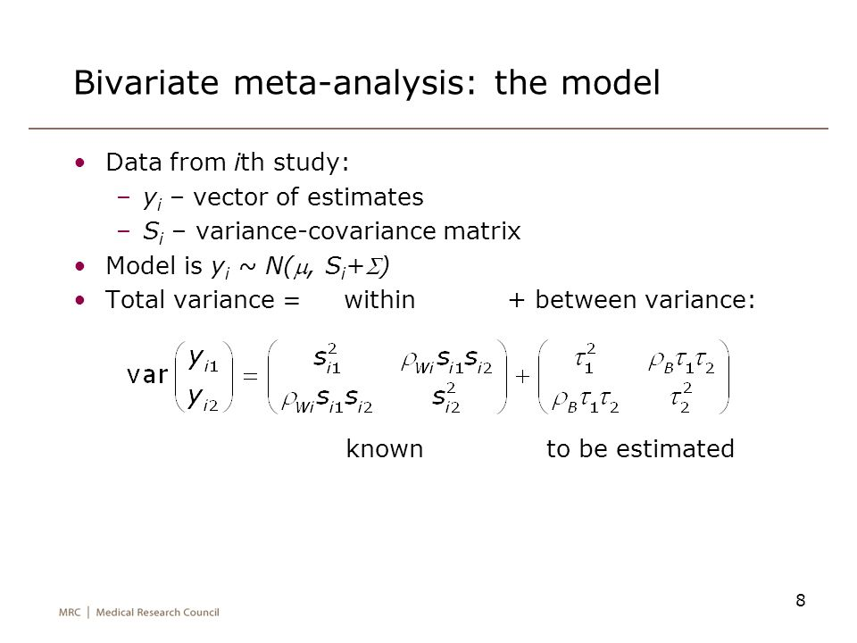 Bivariate meta-analysis: the model
