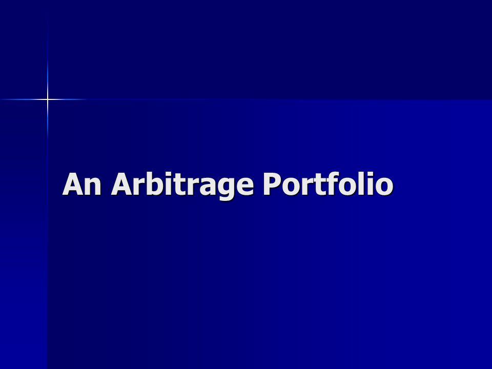 An Arbitrage Portfolio