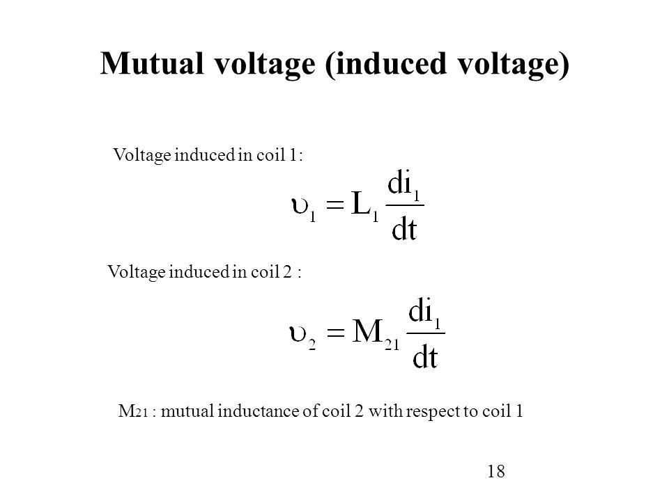Mutual voltage (induced voltage)