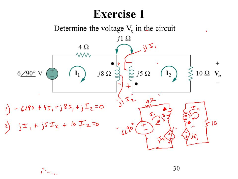 Exercise 1 Determine the voltage Vo in the circuit