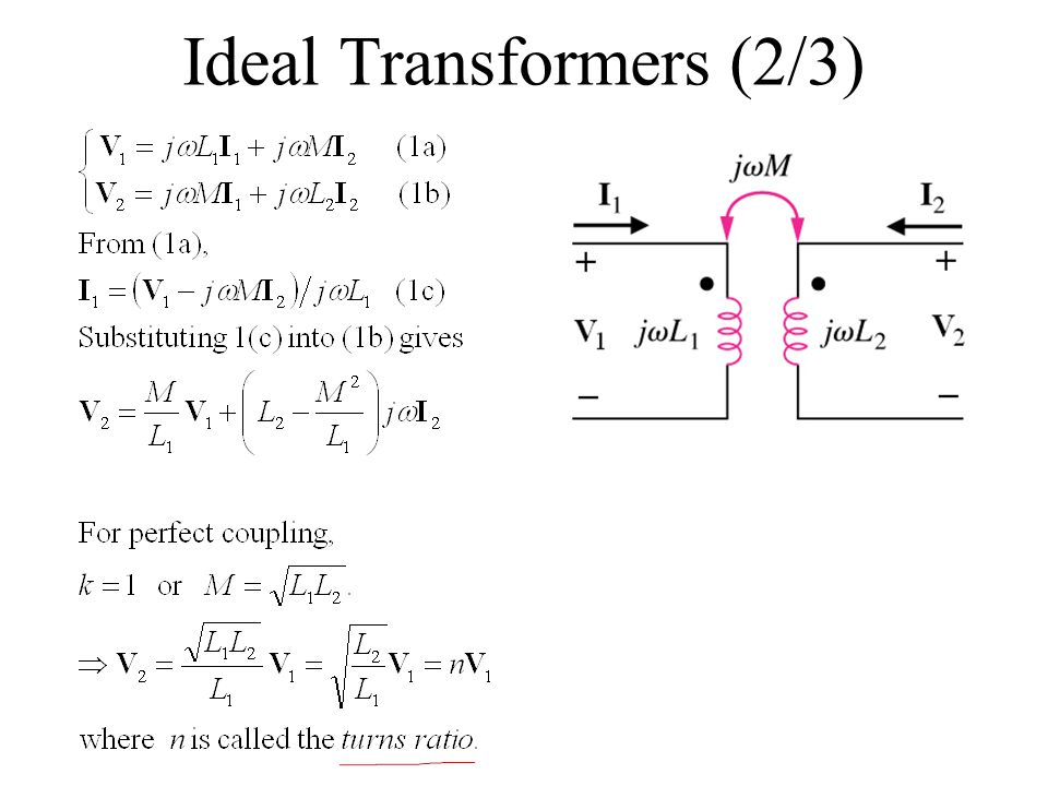 Ideal Transformers (2/3)