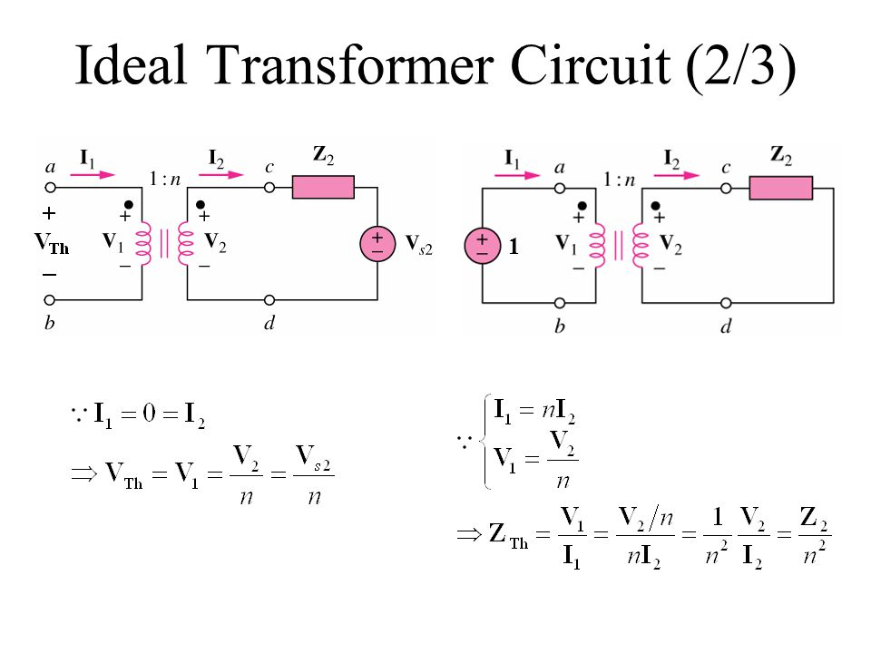 Ideal Transformer Circuit (2/3)