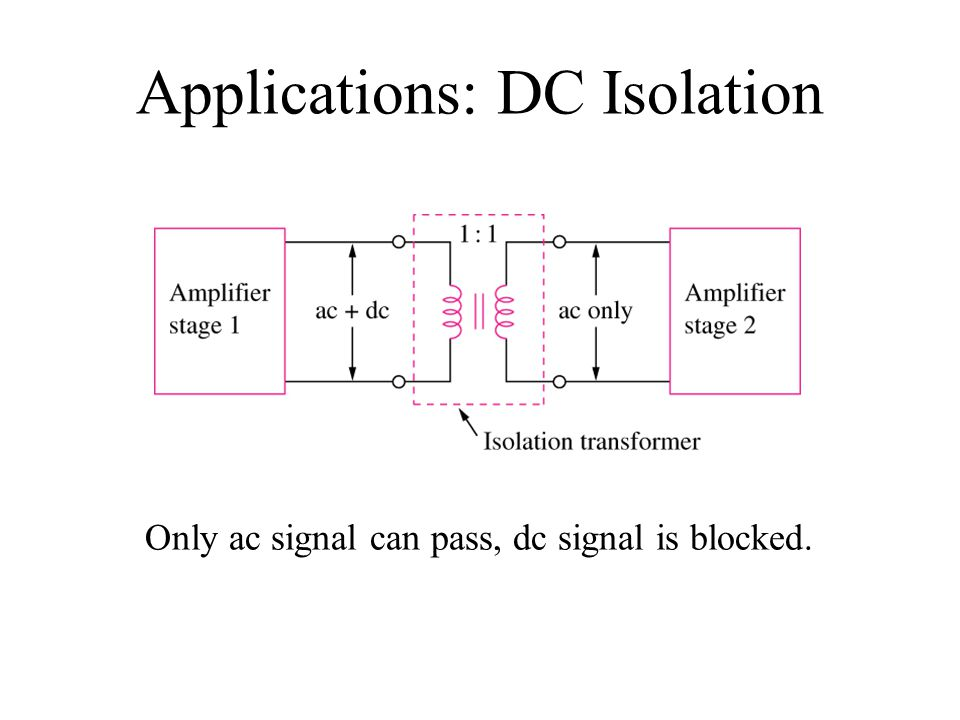 Applications: DC Isolation