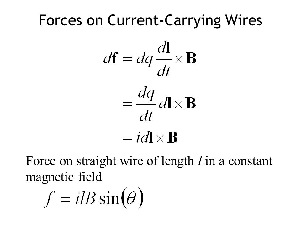 Forces on Current-Carrying Wires